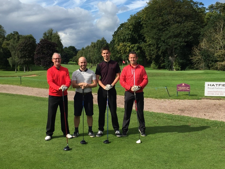 charity golf day in welshpool