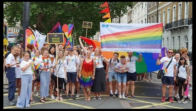 Jelf colleagues attend London Pride