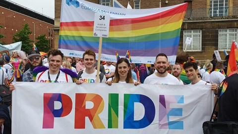 Norwich colleagues from Jelf and Marsh at Norwich Pride