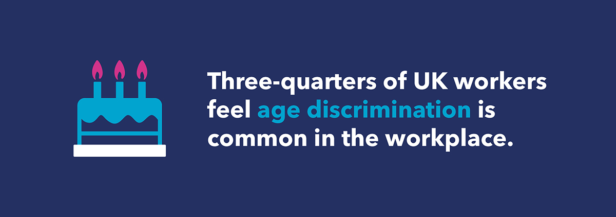 three-quarters of uk workers feel age discrimination is common in the workplace